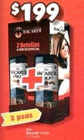 Bodega Aurrerá: 2 botellas de Bacardi añejo 1L por $199