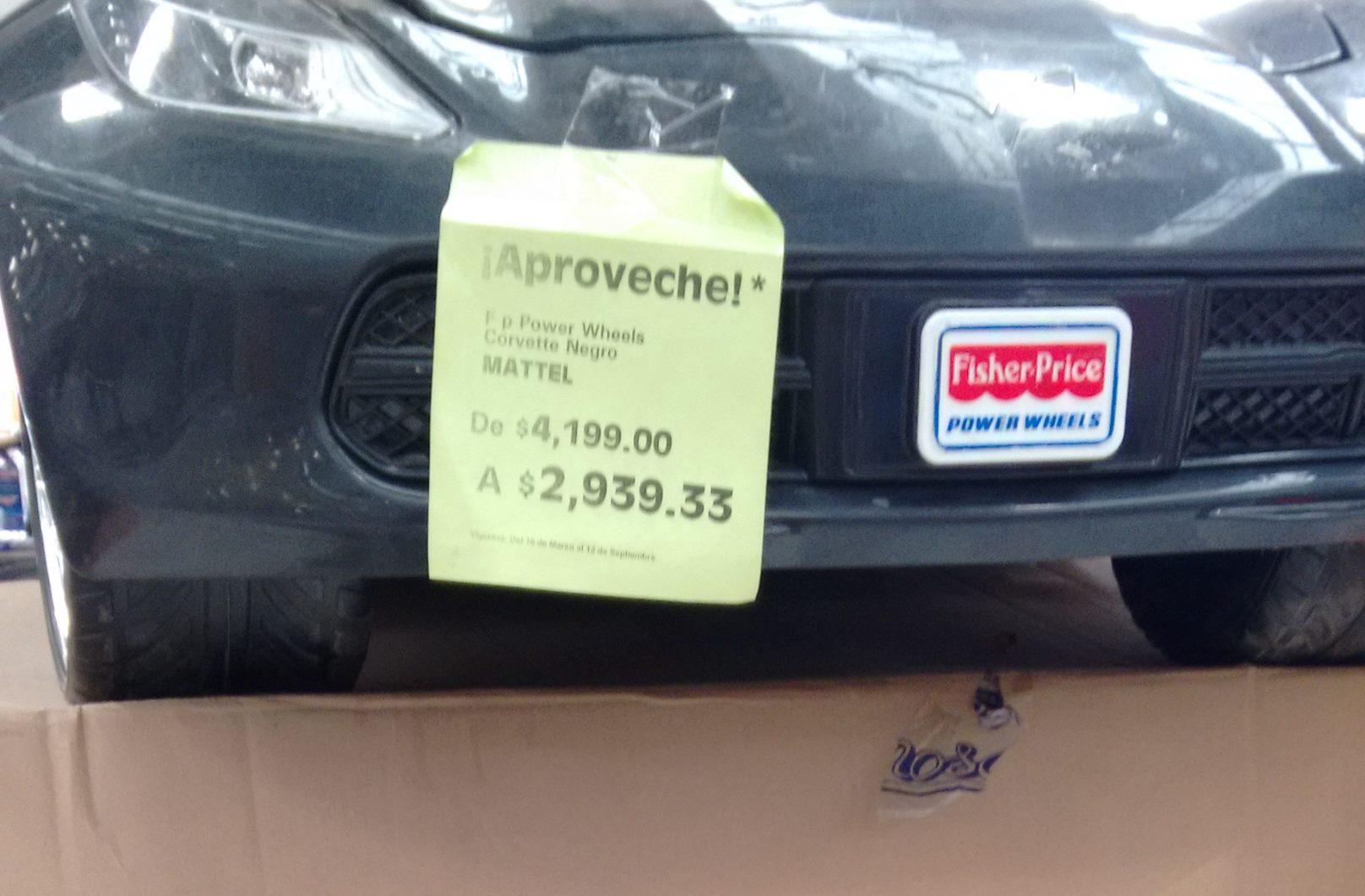 La Comer: Power Wheels Corvette Negro a $2,939