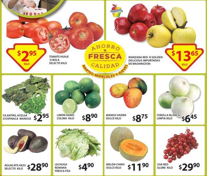 Ofertas de frutas y verduras en Soriana mayo 19