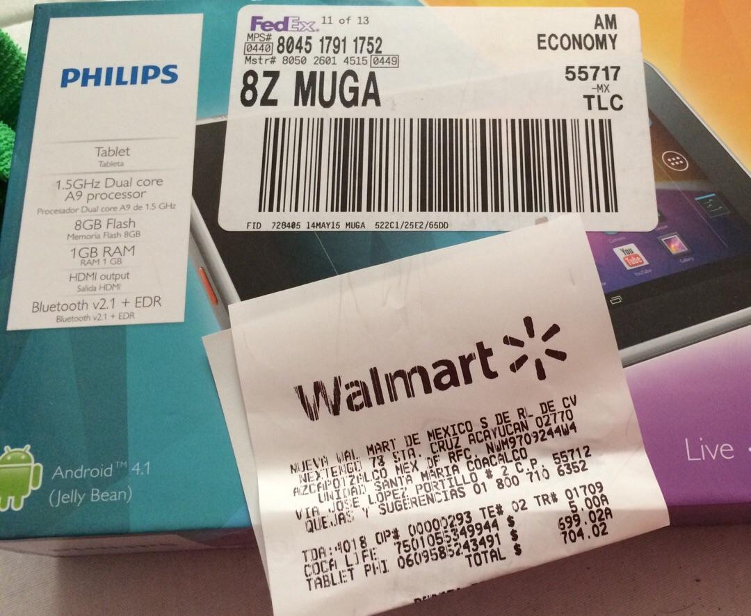 Walmart: tablet Philips en liquidación a $699.02