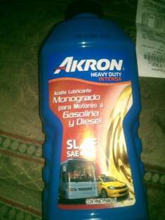 Walmart: aceite lubricante Akron a $16