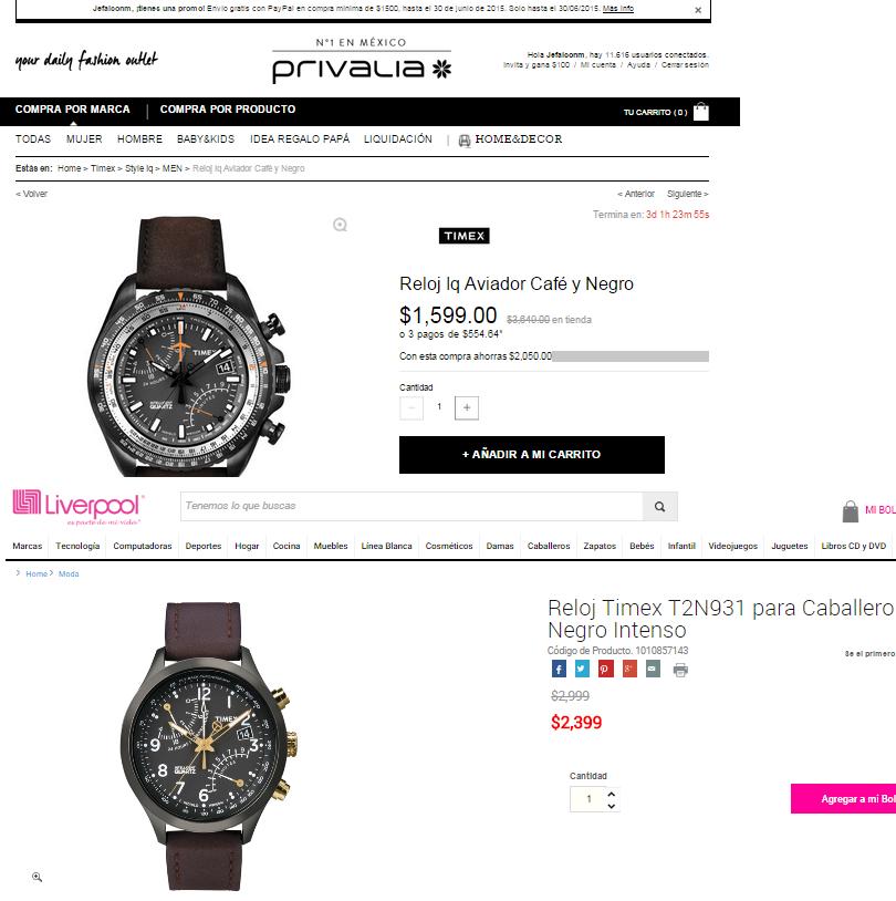 Privalia: descuentos en Relojes Timex