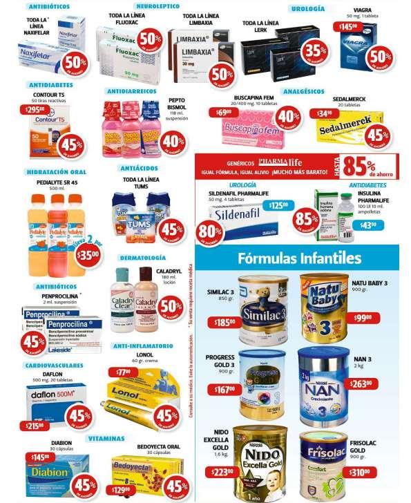 Farmacias Guadalajara: 45% de descuento en Lonol, Tums, Bedoyecta y más