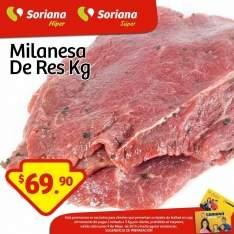 Milanesa de Res a $69.90 en Soriana
