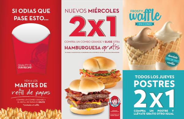 Promociones en Wendy's de martes a jueves