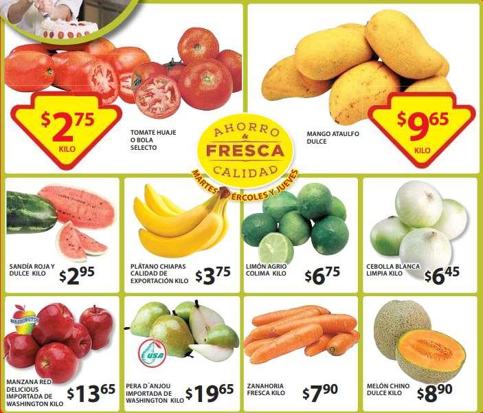 Ofertas de frutas y verduras en Soriana 26 de mayo