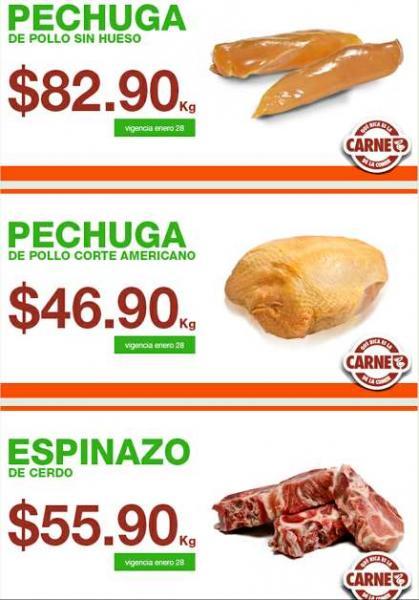 Martes de ofertas de carnes en La Comer enero 28