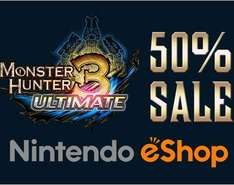 Nintendo eShop: 50% de descuento en Monster Hunter 3 Ultimate para WiiU y 3DS