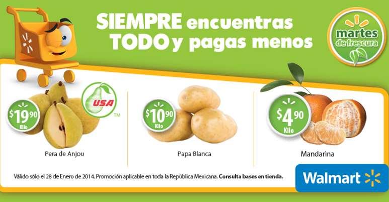 Martes de frescura en Walmart enero 28: mandarina $4.90 el kilo y más
