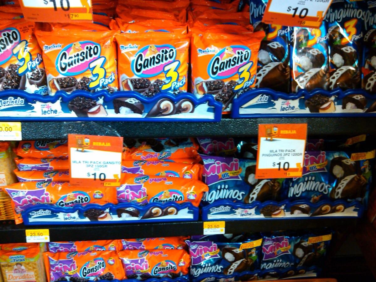 Walmart: Tripack de gansitos o pinguinos a $10