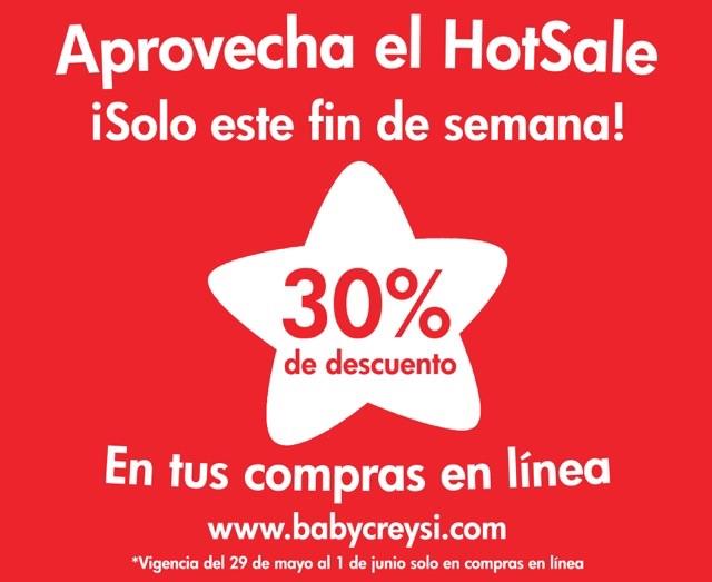 Promoción del Hot Sale 2015 en Baby Creysi: 30% de descuento solo en la tienda online