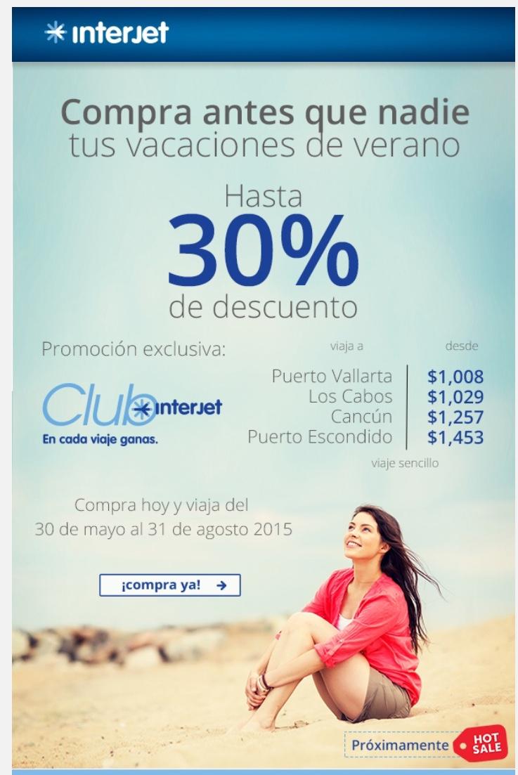 Preventa Hot Sale para miembros Club Interjet 30%