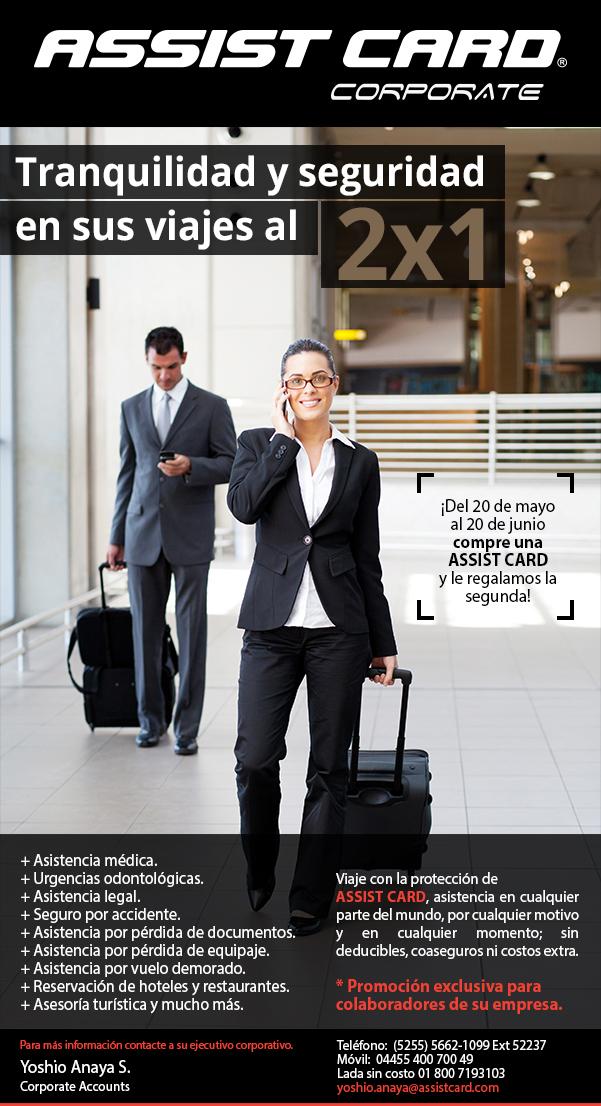2x1 en tarjetas de asistencia para viajeros ASSIST CARD