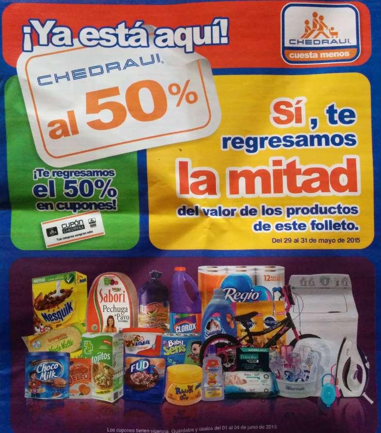 Chedraui: artículos con 50% de bonificación del 29 al 31 de mayo