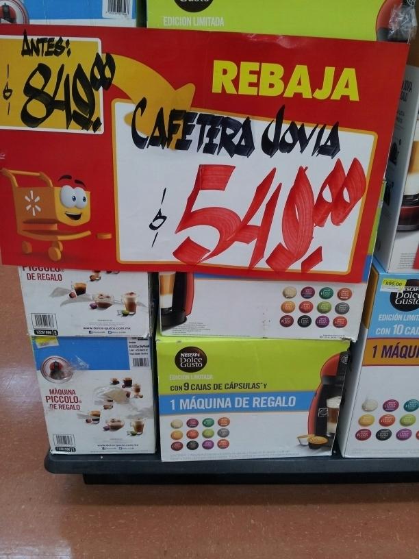 Walmart: Cafeteras PICCOLO con 9 cajas de Capsulas a $549