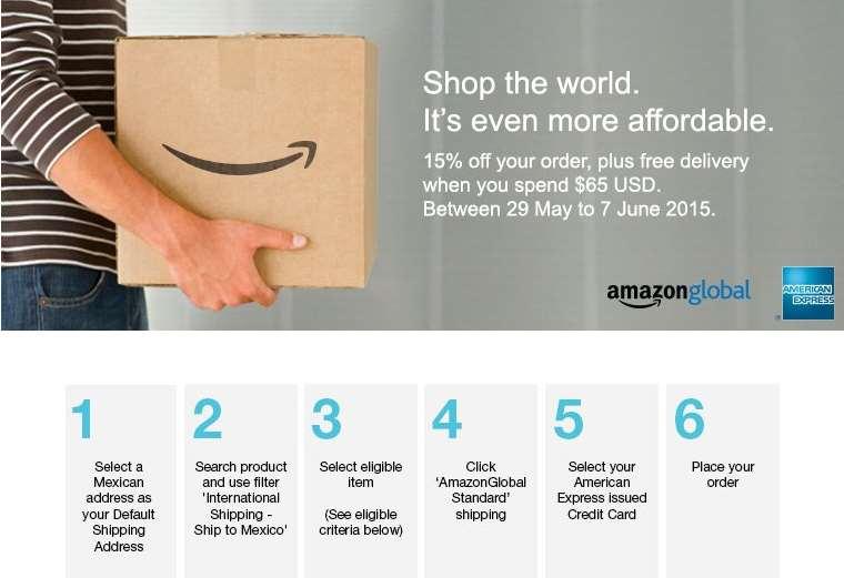 Promociones de Hot Sale 2015 en Amazon: 15% de descuento y envío gratis con AMEX