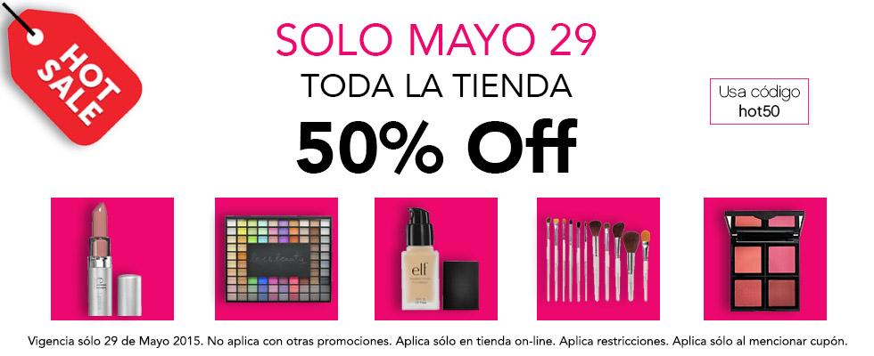 HOT SALE elf Cosmeticos: 50% Toda la tienda SOLO HOY