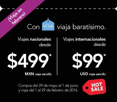 Promociones de Hot Sale 2015 en Volaris, Interjet, Vivaerobus y Aeroméxico