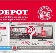 "OFFICE DEPOT Tv LED Speler  Full HD 50""  $6399"