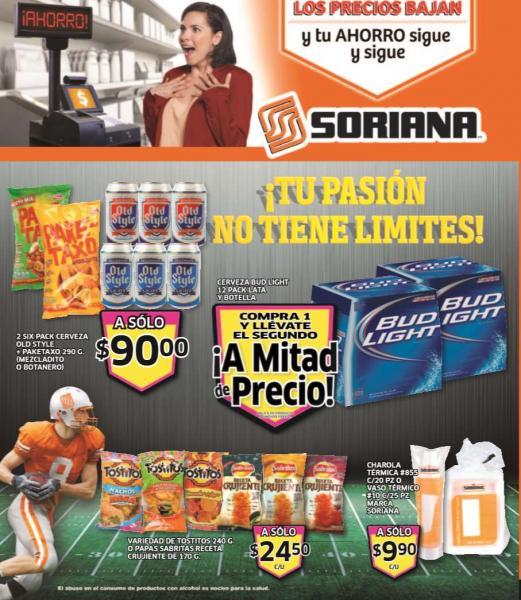 Folleto de ofertas en Soriana del 24 al 30 de enero