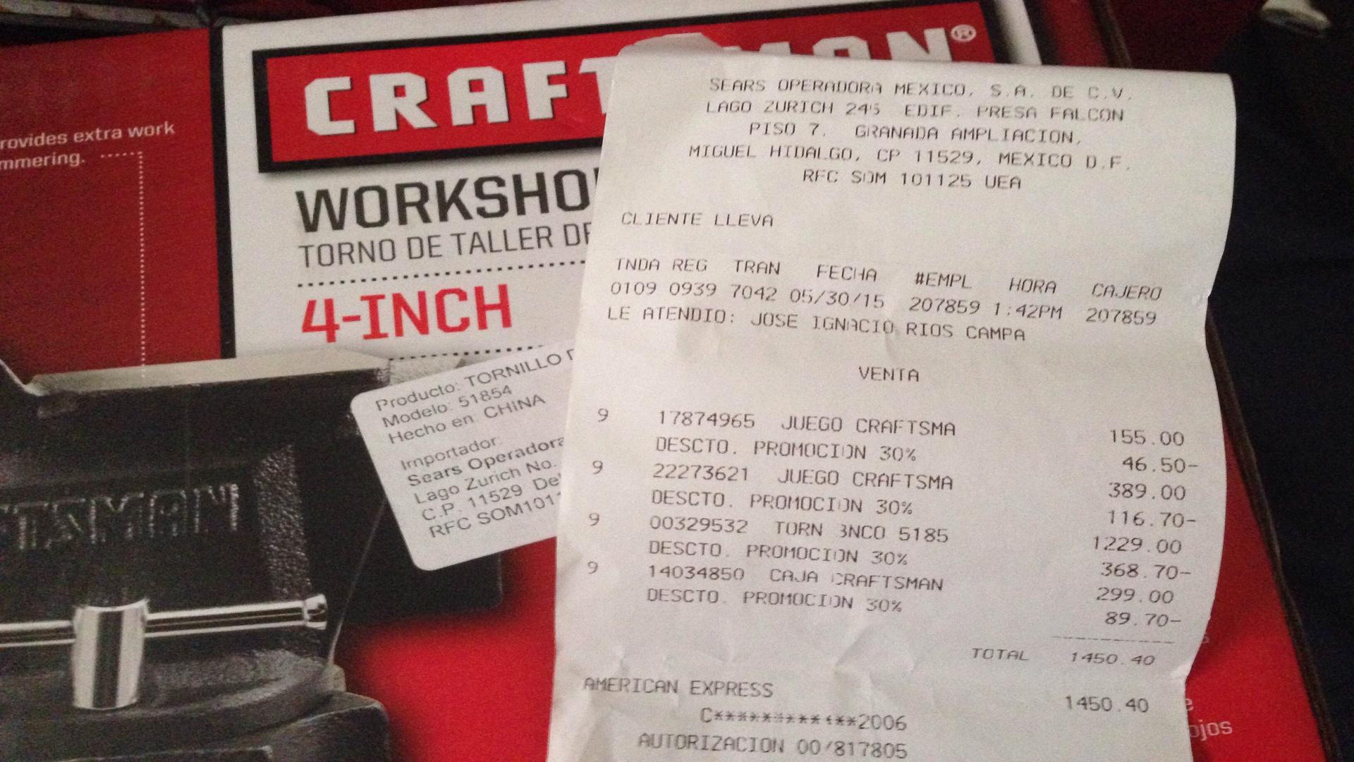 Sears: Herramientas Craftsman con 30% de descuento