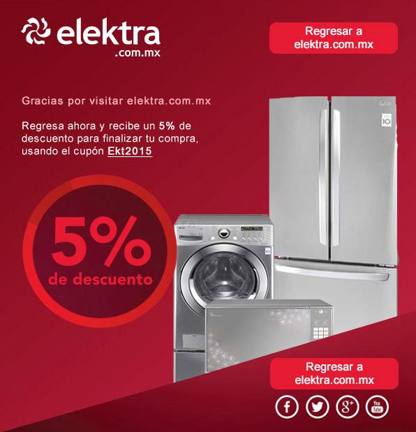 Elektra: Cupón de  de descuento 5% adicional