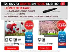 Hot Sale 2015 en Walmart: barra de sonido Philips gratis en la compra de TV