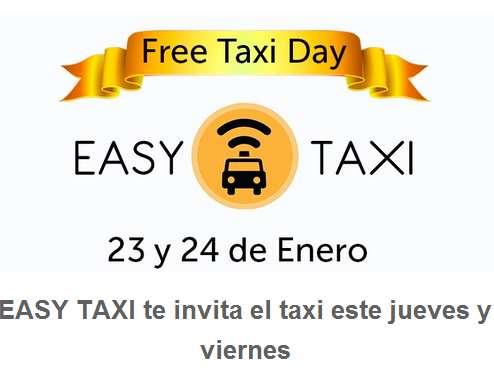 Free Taxi Day 23 y 24 de enero: primeros $50 gratis con Easy Taxi