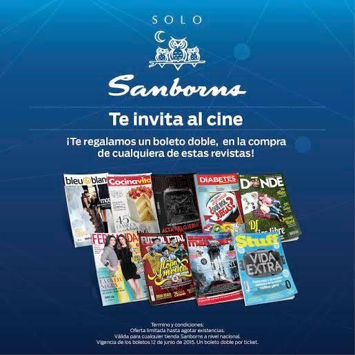 Sanborns: boleto de cine doble gratis comprando revista y enviando foto