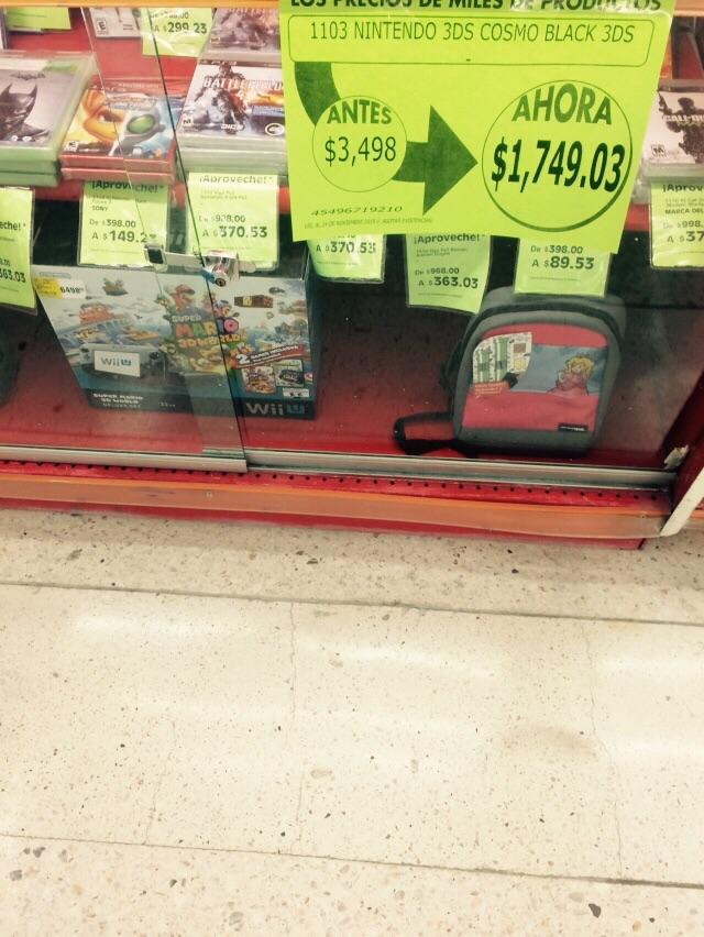 La Comer: Nintendo 3DS a $1,749.03