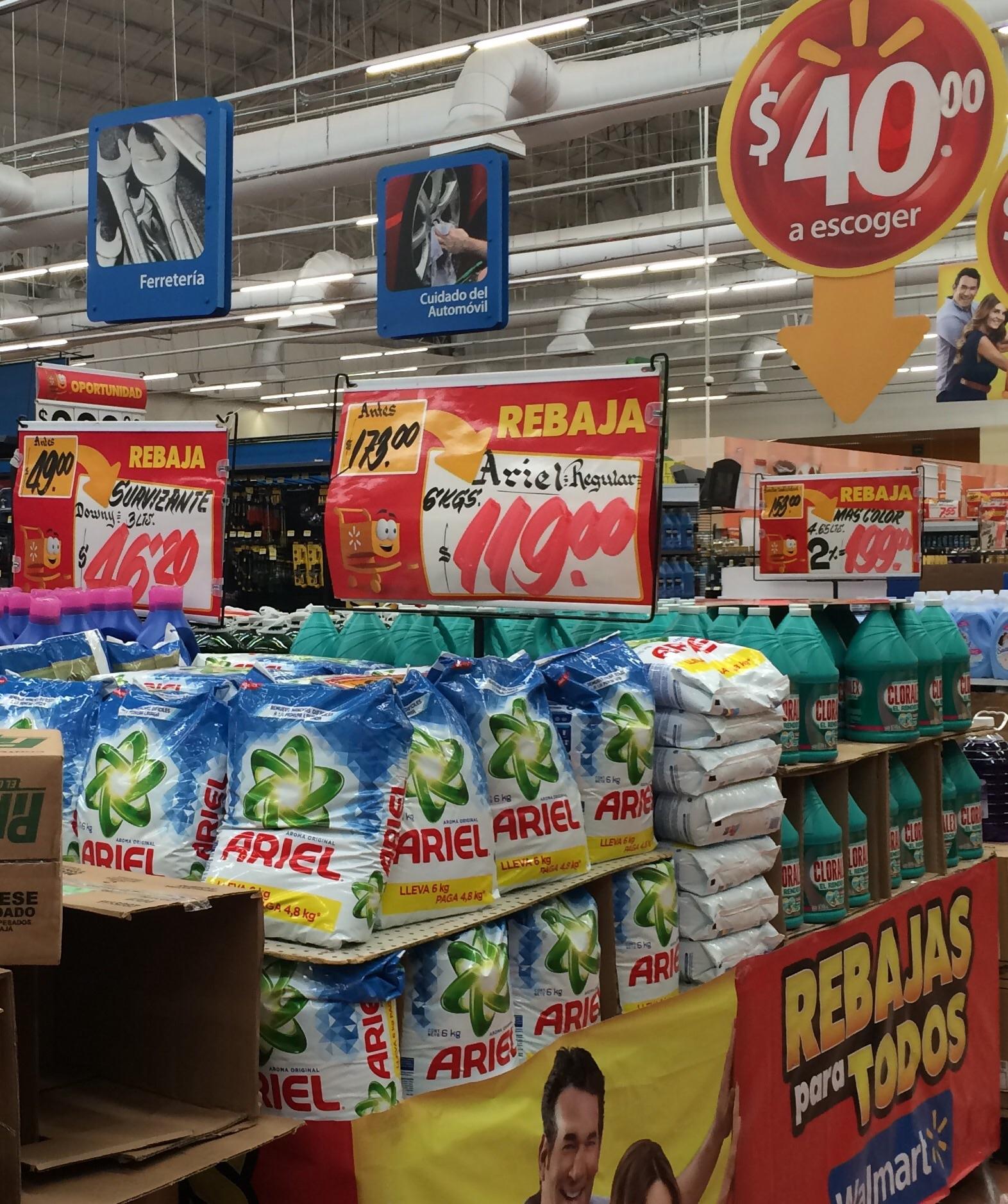 Walmart: Ariel de 6kg a $119
