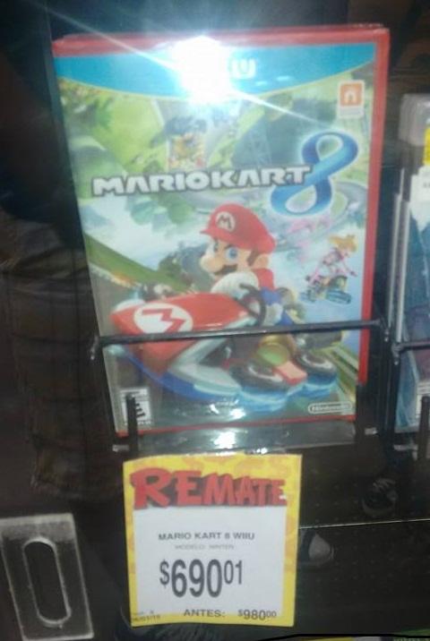 Bodega Aurrerá: Mario Kart 8 para Wii U a $690.01