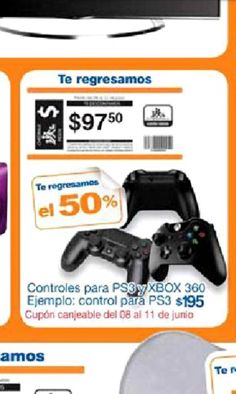 Chedrahui: Control para PS3 y Xbox 360 con 50% de bonificacion