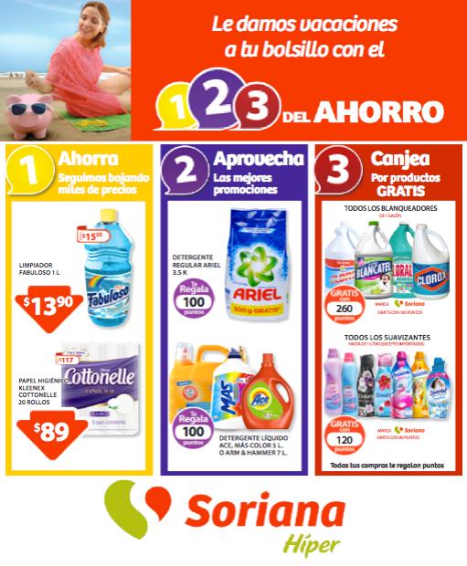 """Soriana: nueva promoción: """"1, 2, 3 del Ahorro"""" folleto del 5 al 21 de junio"""