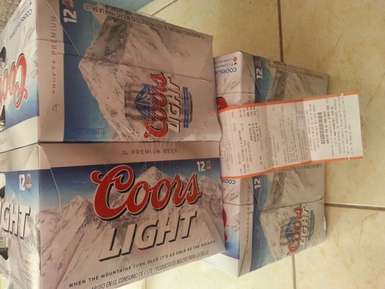 Chedraui: Cerveza Coors Light 2 Paq de 24 cervezas c/u a $154
