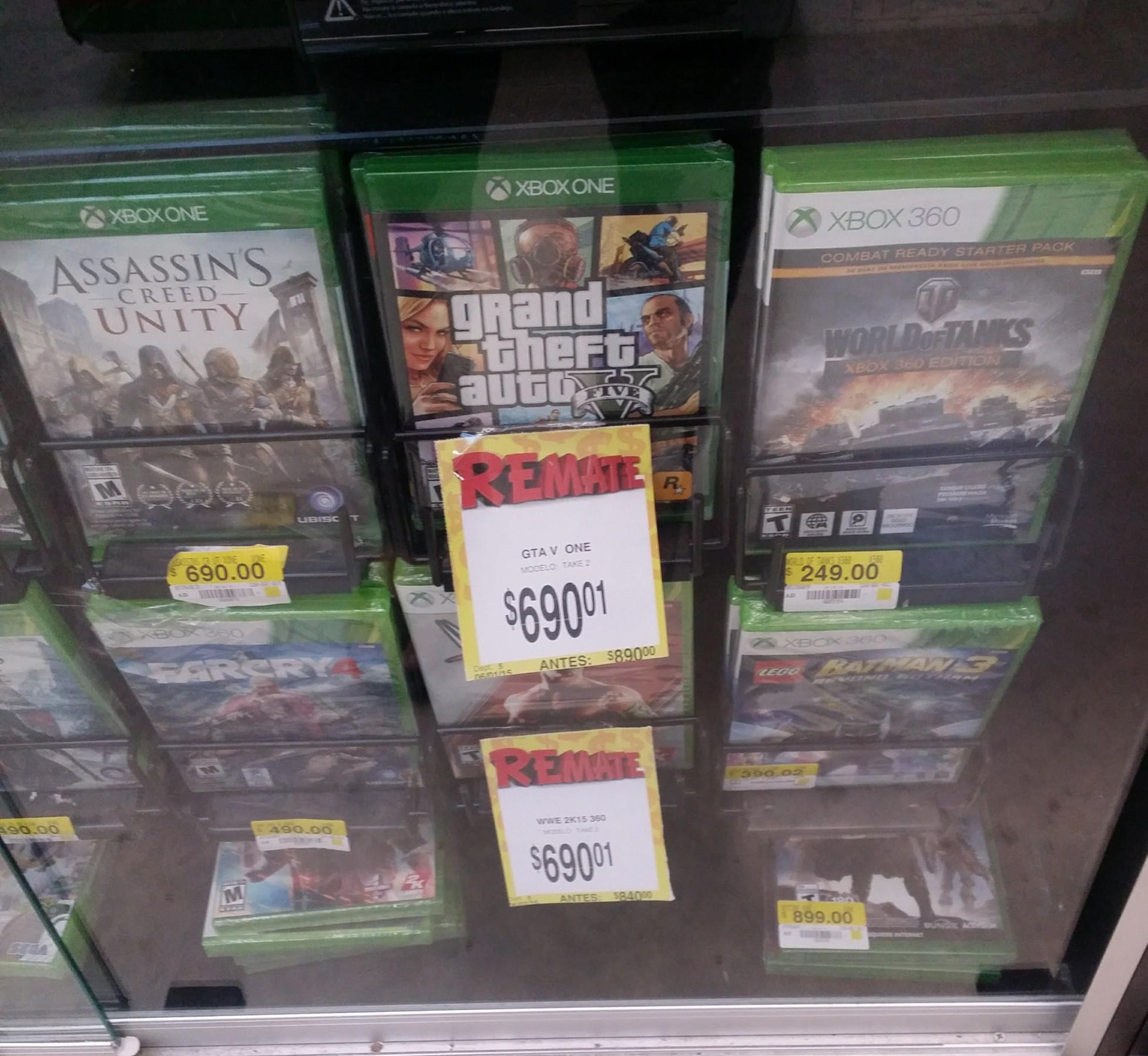 Bodega Aurrerá: GTA V para Xbox One a solo $690 pesos
