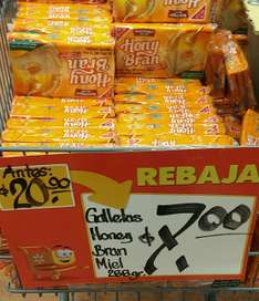 Walmart: Galletas Honey Bran Miel 288 gr. $7
