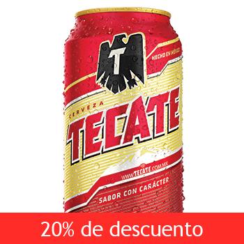 COSTCO: Tecate 24 cervezas en lata de 355ml  desde $189