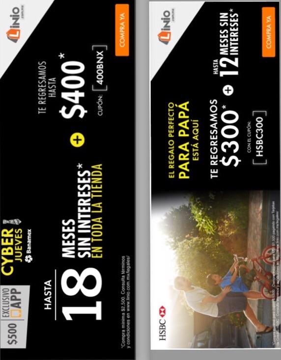 Linio: Cashback de $400 con Banamex (o $500 desde la App) + 18 msi