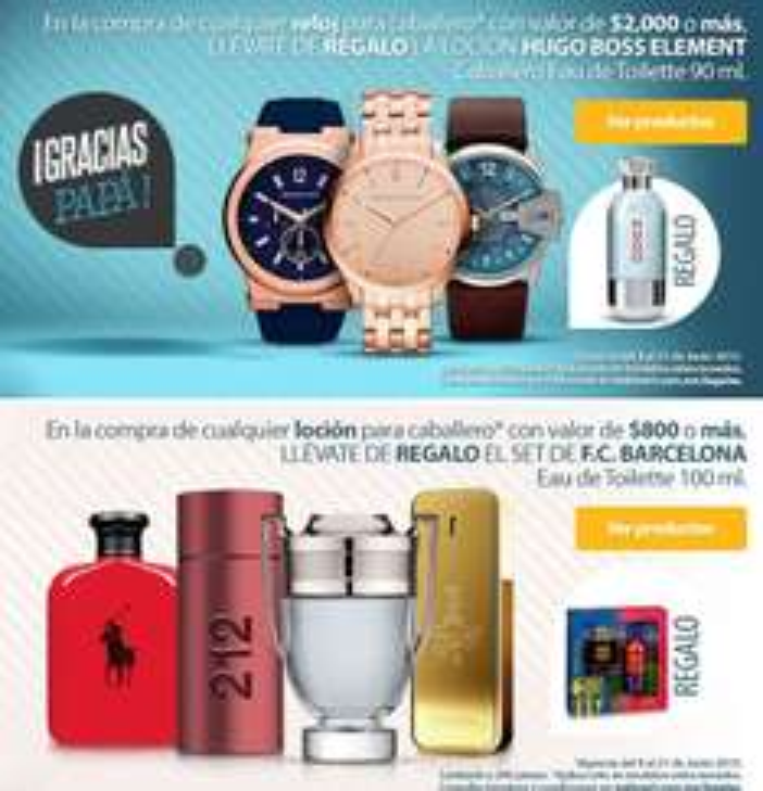 Walmart: loción de regalo Hugo Boss comprando reloj y más