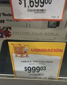 "Walmart: tablet Vulcan de 8.9"" con windows en $999.03"