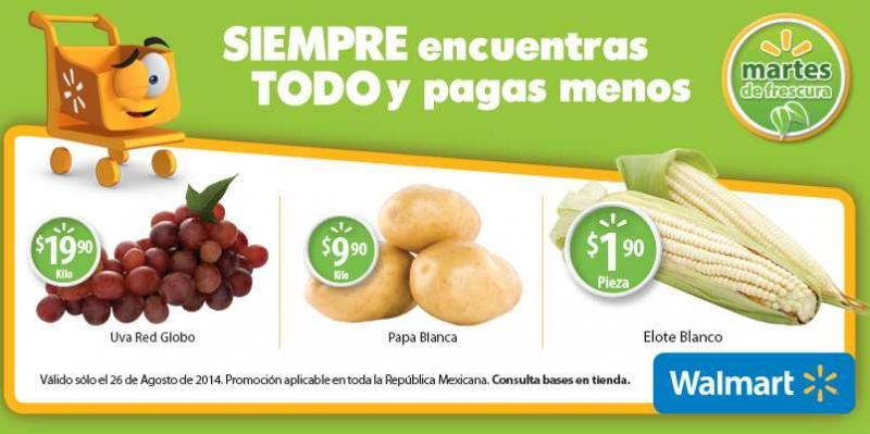 Martes de frescura en Walmart agosto 26: uva $19.90/Kg y más