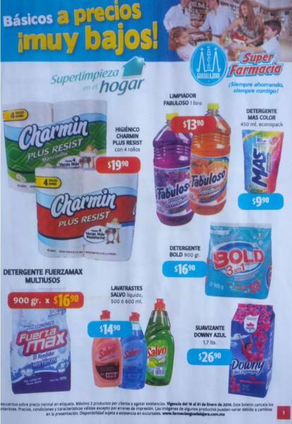 Folleto de ofertas en Farmacias Guadalajara del 16 al 31 de enero  de 2014