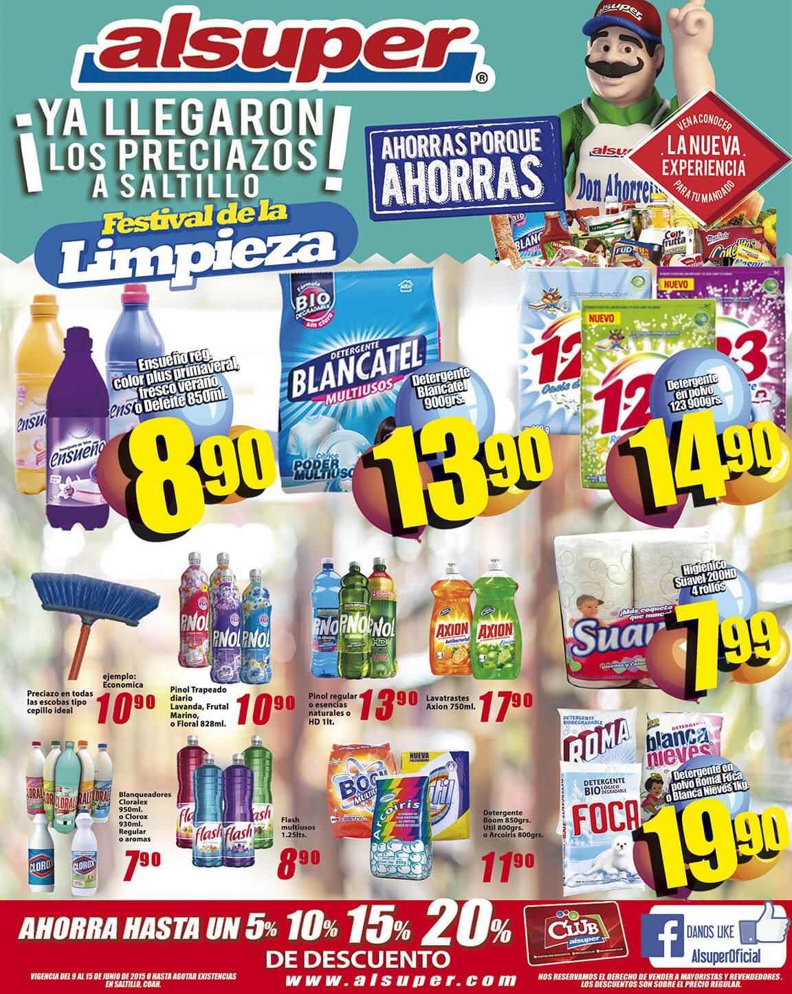 Alsuper: Folleto Festival de la Limpieza