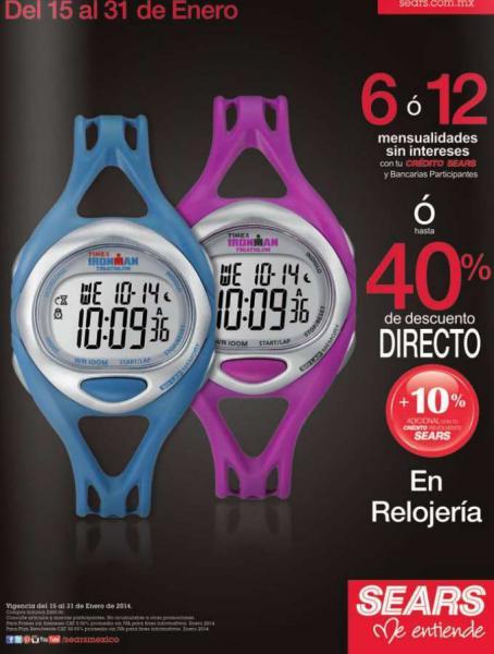 Relojes: hasta 50% de descuento en Sanborns y Sears