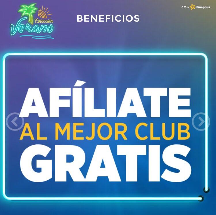 Afiliate GRATIS a Club Cinepolis