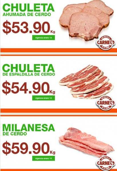 Martes de ofertas de carnes en La Comer enero 14
