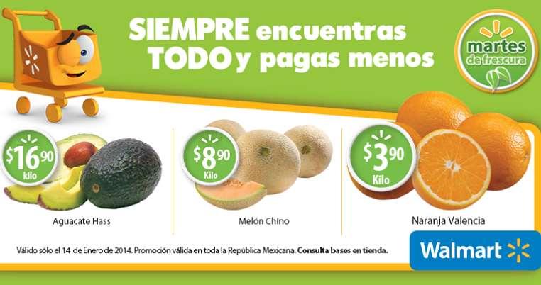 Martes de frescura en Walmart enero 14: aguacate $16.90 el kilo y más