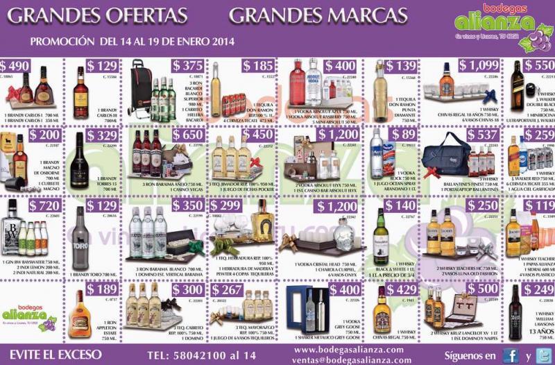 Bodegas Alianza: precios especiales en botellas y artículos de regalo