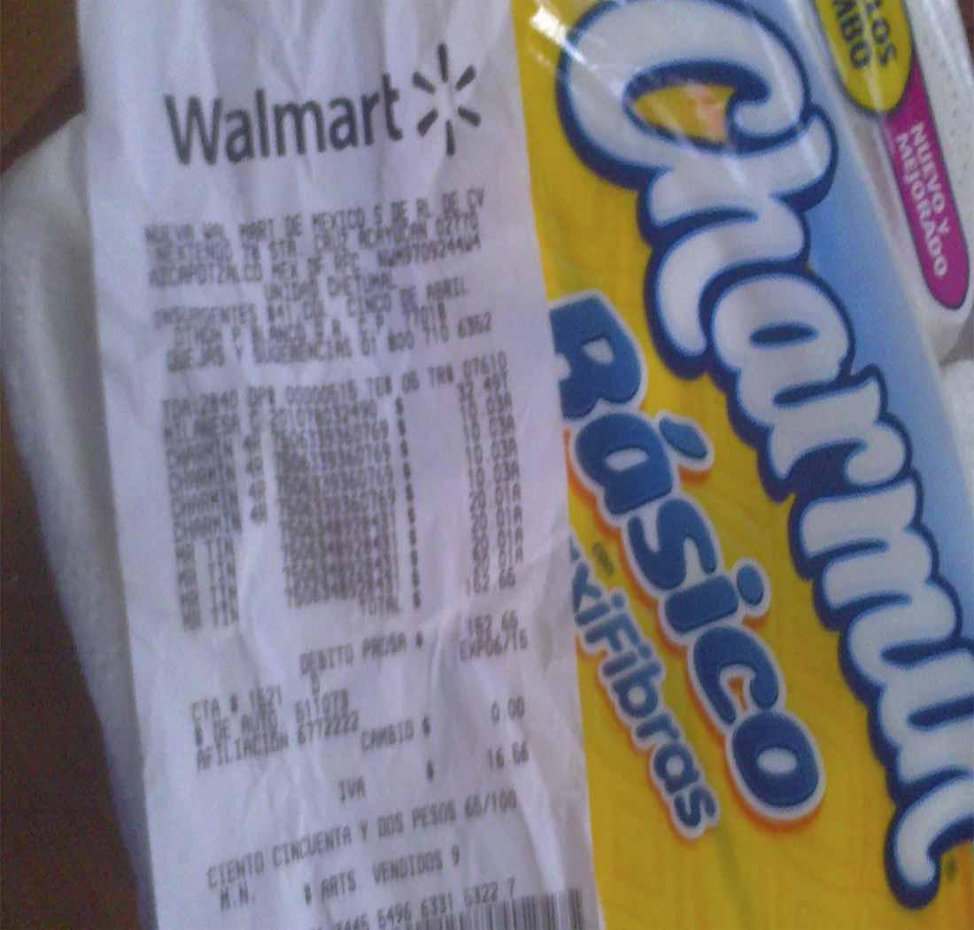 Walmart: papel higiénico Charmin 4 rollos $10.03